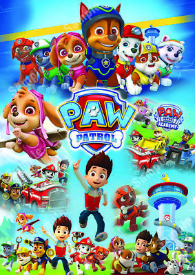 Paw Patrol Posters Kids Boys Girls Wall Art Poster A4 / A3 size 170 gsm
