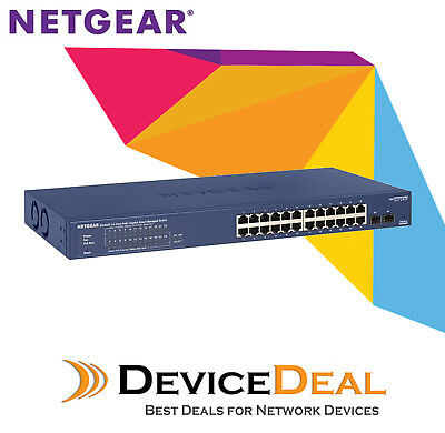 NETGEAR PROSAFE GS724TP 24-port Smart PoE+ Switch with 2 SFP (GS724TPv2)