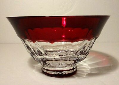 *EXCELLENT* Waterford Crystal SIMPLY RED (2003-2004) Footed Bowl 5""