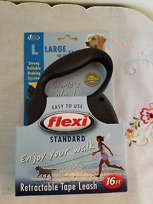 Flexi Tape Leash Standard Black Small 16 ft Dogs Up To 110 lb.
