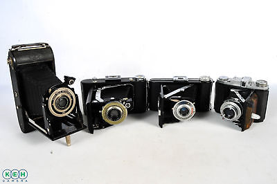 4- Vintage Folding Cameras **AS-IS**