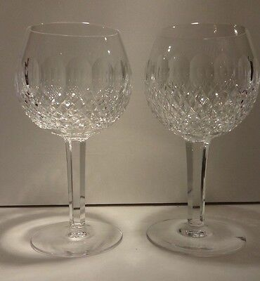 *EXCELLENT* Waterford Crystal COLLEEN (1953-)Set of 2 Oversize Wine Hocks 7 5/8""