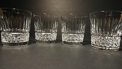"*VINTAGE* Waterford Crystal MAEVE (1985-) Set 4 Old Fashioned 3 1/2"" 9oz IRELAND"