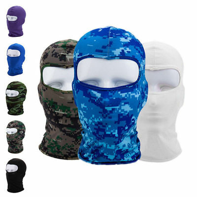 Cycling Lycra Balaclava Full Face Mask Outdoor Ski Ultra-thin Neck Protecting EE