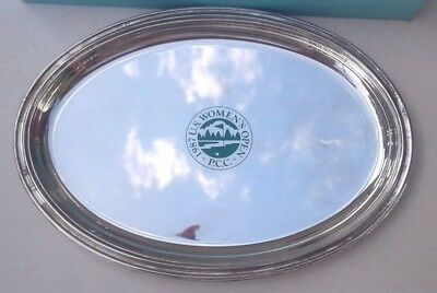 Tiffany & Co. Silver Plate Golf Trophy Tray 1987 U.s. Womens Open P.c.c.