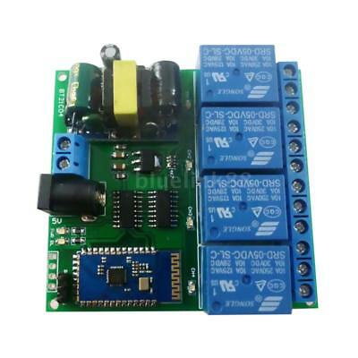 5V 4CH Android Bluetooth Relay Board Wireless Control Remote and Switch O7F7