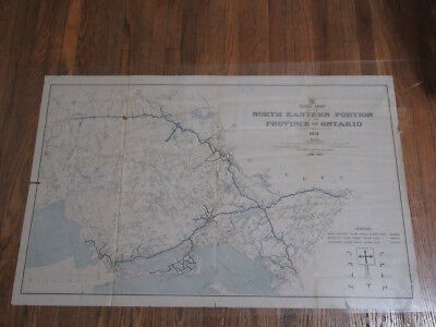 1931 Road Map North East Portion of Ontario