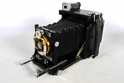 Graflex 2x3 Speed Graphic Folding Camera W/ Bausch and Lomb Lens and Roll Back