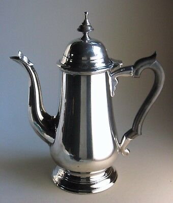 Fine antique replica 1750s Colonial era/English George II silverplate coffee pot