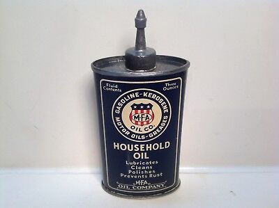 Vintage MFA Can NOS  FULL handy oiler Lead Top rare metal gas oil sign house old