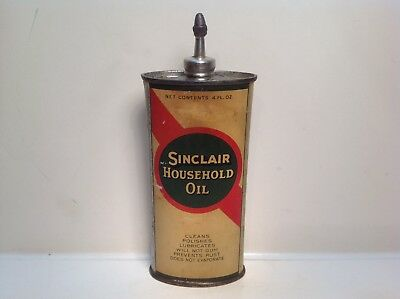 Vintage Sinclair Can handy oiler Lead Top FULL household rare oil metal gas old