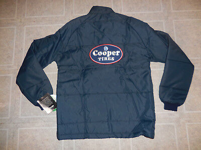 NOS Vintage 70's Holloway COOPER TIRES Racing Puffer 1977 Quilted Jacket Sz S