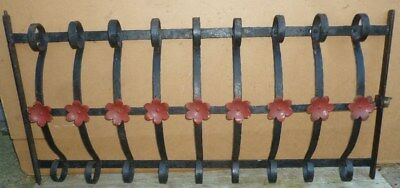 Antique Wrought Iron WINDOW GATE Guard - Architectural Salvage - 42½""