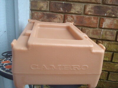 Excellent beige Cambro R500LCD Riser support for Beverage Dispenser container