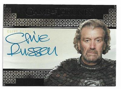 2017 Game of Thrones Valyrian Steel Autograph Clive Russell as Ser Brynden Tully