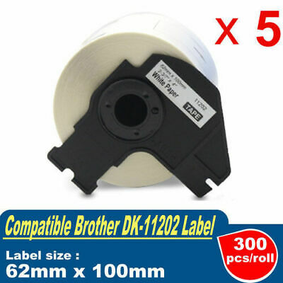 5 Roll Compatible for Brother DK-11202 Shipping/Name Label QL-500W QL-570 QL-700