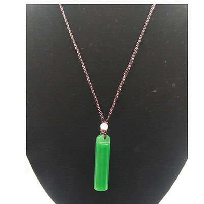 Beautiful Chinese natural hand exquisite green jade - popular necklace @21