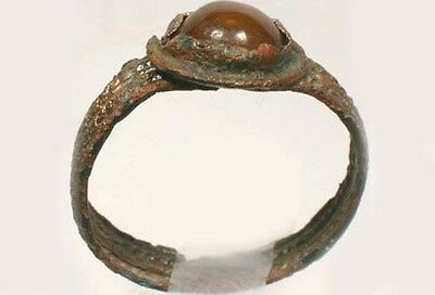 Roman Byzantine Lycian Turkey Ring AD1100 Sz8 + 18thC Antique 1¾ct Carnelian Gem