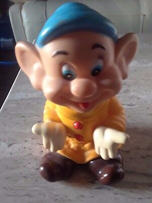 Vintage Walt Disney Productions Snow White Dopey Rubber Doll Made in Japan