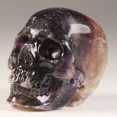 """2.0""""Fluorite Carved Crystal Skull, Realistic, Crystal Healing"""