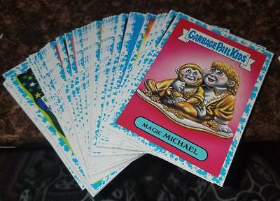 2017 Garbage Pail Kids Battle Of The Bands 65 Different Blue Spit Parallel Cards