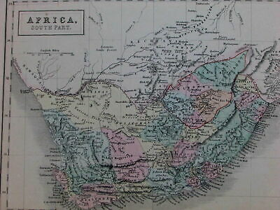 North & South Africa Barbary Morocco native tribes unexplored lands c.1845 map