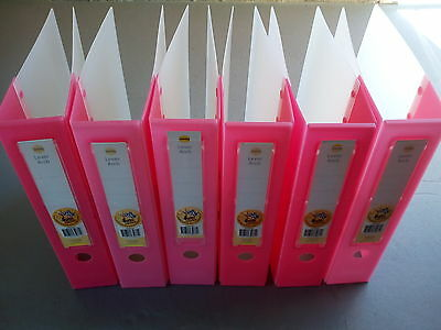 6 x MARBIG LEVER ARCH 75mm A4 2 RING BINDER FOLDER FILE WATERPROOF DURABLE