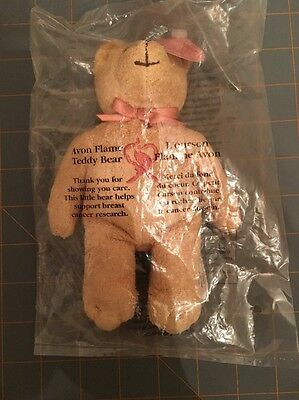 Avon Flame Teddy Bear (Breast Cancer) - 2001 - NIB