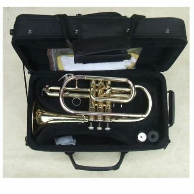 lacquer plated Cornet Bb nice metal technique sound new