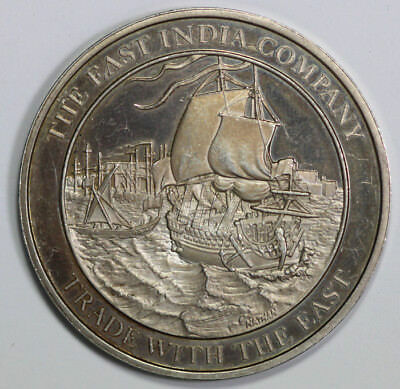 Silver Medallion commemorating 'The East India Company' EF