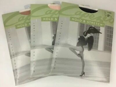 Capezio #N14 Women's Hold & Stretch Footed Tights Black, Light Suntan, Pink NEW