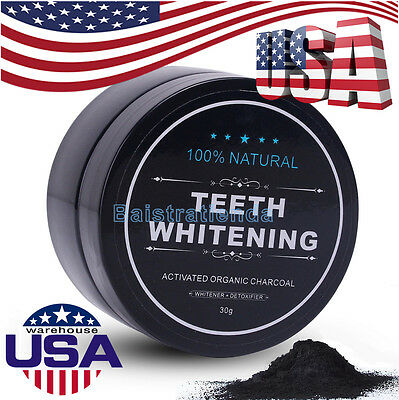 Dental Teeth Whitening Powder 100% Natural Activated Organic Charcoal Toothpaste
