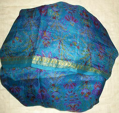 Vintage Sari Saree Fabric Material Pure Silk SMALLPIECE 1 YARDS * 1 YARDS #AC3BM