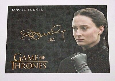 2017 Game of Thrones Valyrian Steel Gold Autograph Sophie Turner as Sansa Stark