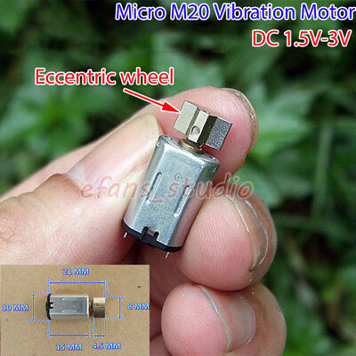 Micro M20 Vibration DC1.5V-3V Vibrating Motor Eccentric wheel DIY Massager Model
