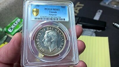 1950 Arnprior Canada Silver Dollar Pcgs Graded Ms61 Uncirculated Coin Rare!