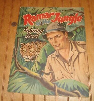 Vintage 1950's RAMAR OF THE JUNGLE 11 X 14 Coloring Book