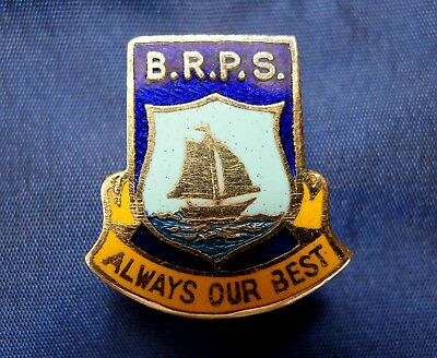 Old Victorian Primary School Badge; Black Rock Primary School 'always Our Best'