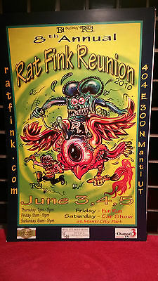 2010 Rat Fink Reunion Poster 8Th Annual  Ed Roth Memorial