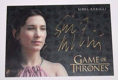 2017 Game of Thrones Valyrian Steel Gold Autograph Sibel Kekilli as Shae Limited