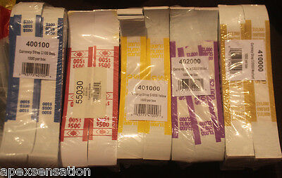 100 Currency Bands - Your Choice $1 $5 $10 $20 $100 Money Straps