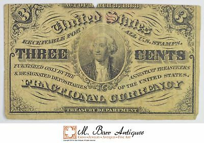 1863 3 Cents 3rd Issue Fractional Currency *325