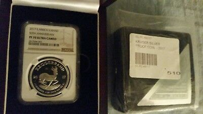 2017 silver PROOF krugerrand NGC PF70 Original Mint Packaging LOW COA 00510.