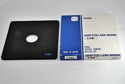 Toyo Adapter Lens Board 158 x 158mm Copal #0 34.6mm Boxed 1051 LVM