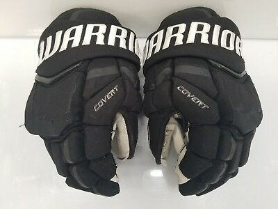 "LA Kings Game Used Warrior QRL Pro Hockey Gloves Black 14"" 2016-2017 Season"
