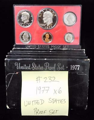 Picker's Delight Box #232 SIX 1977 United States Proof Sets