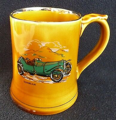 "Vintage Wade Pottery 450 ml Tankard ""Sunbeam 1914"" Veteran Cars No. 15"