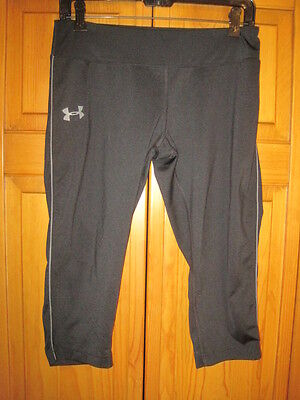 Under Armour Heat Gear Fitted capri pants girls XL YXL black running gym fitness