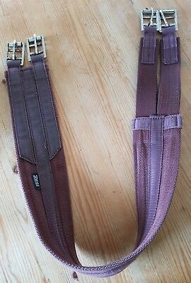 "Shires brown elasticated pony girth 40""/102cm"