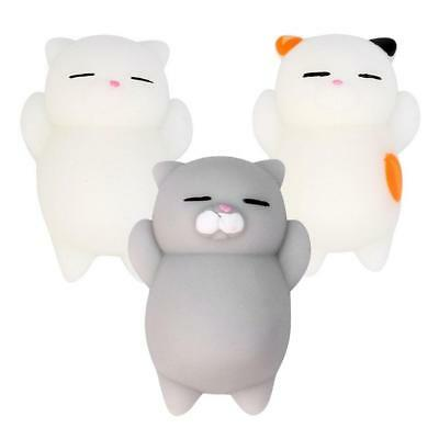 3x Kawaii Slow Soft Rising Squishy Squeeze Cute Cat Expression Smile Face Toy